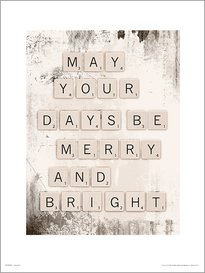 Christmas Scrabble Bright