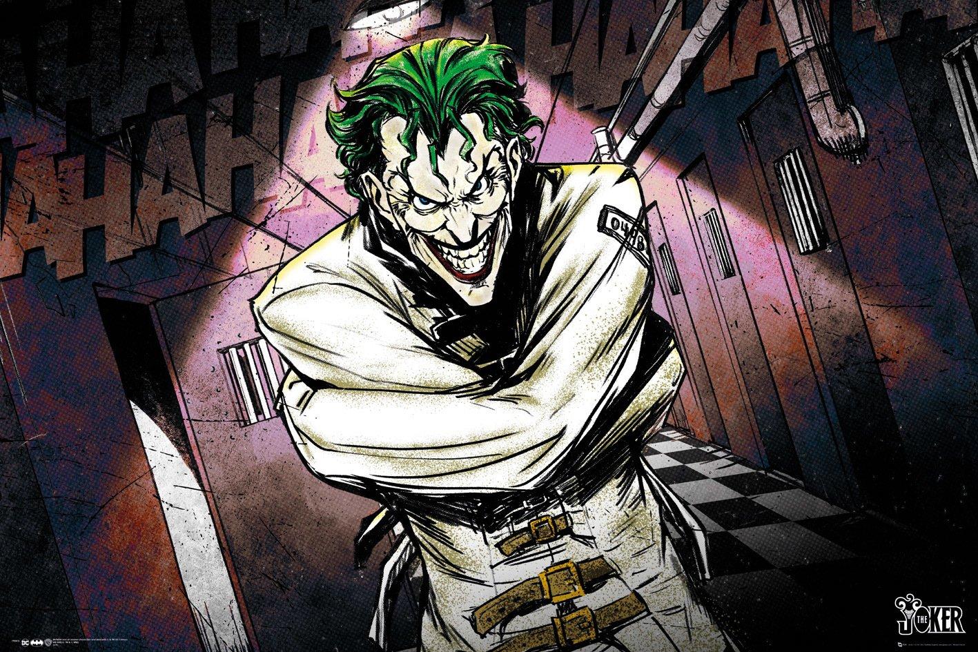 Batman V The Joker Arkham Knight Origins DC Art Print Photo Poster A3 A4