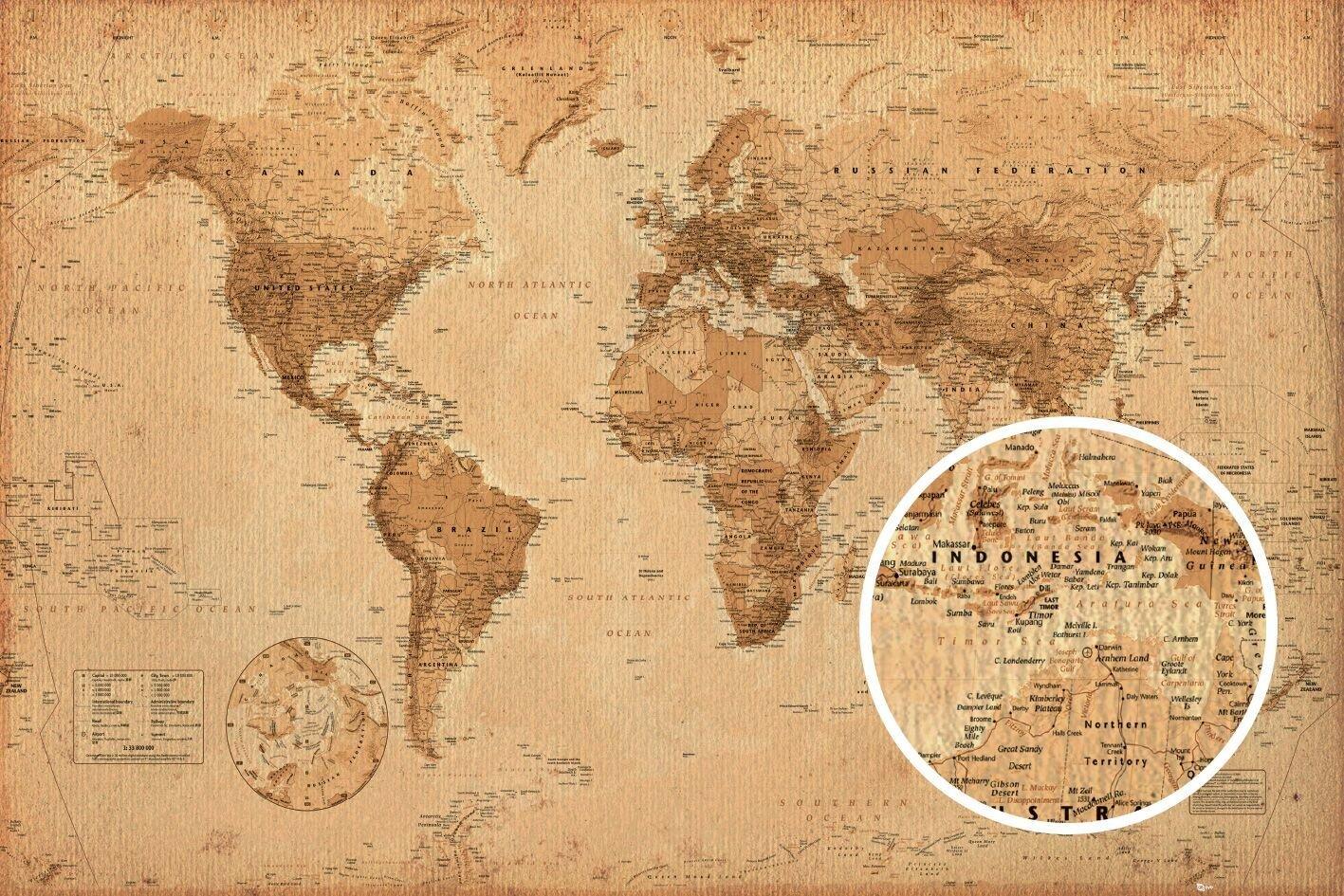 Great Sandy Desert World Map.World Map