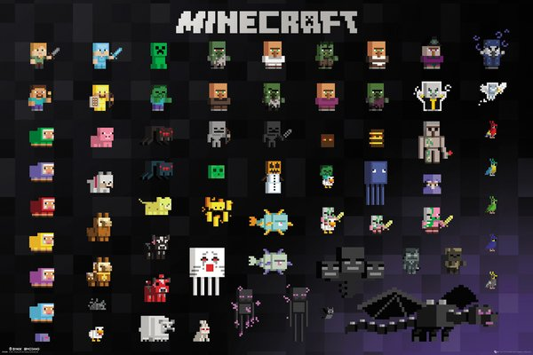 FP4300 Minecraft Ocelote Chase Maxi Poster 61 X 91.5CM Gamers Póster