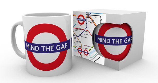 Transport For London Underground Map Heat Changing Mug Mind The Gap Coffee Cup