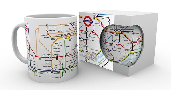 Transport For London Underground Map Mug