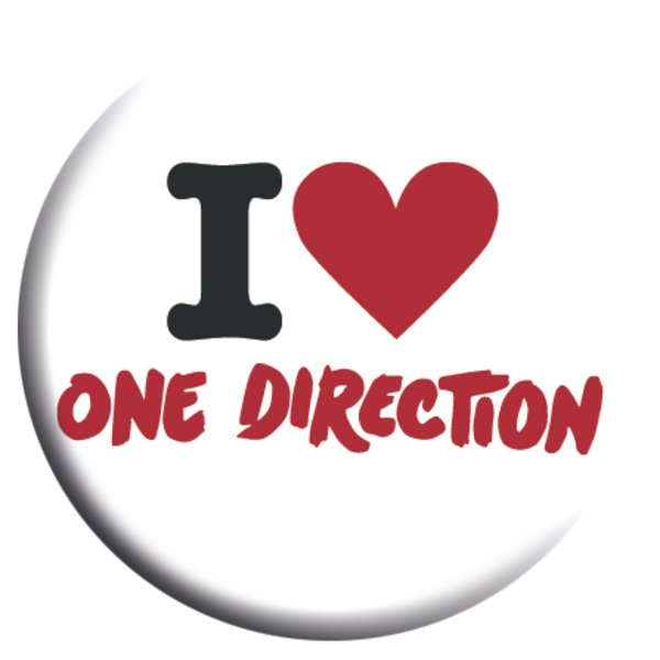 I Love One Direction Logo One Direction I Love Loose