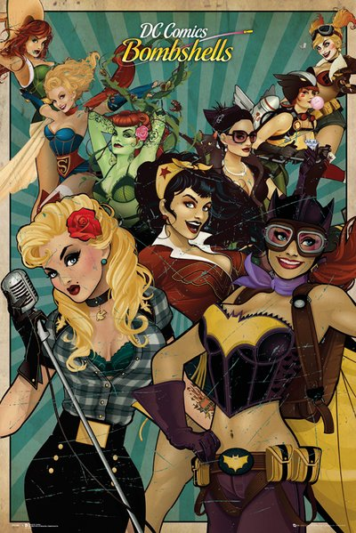 DC COMICS BOMBSHELLS #27 Awesome Harley Quinn Poison Ivy Cover 1ST PRINT! Batman
