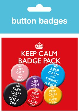 Keep Calm & Carry On Badge Pack
