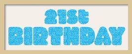 21st Birthday Fatty Font