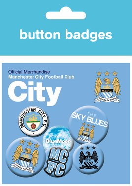 Man City Crests Badge Pack
