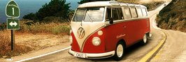 VW CAMPER route 1