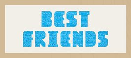 Framed Cream Mount Best Friends Oak