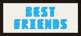 Framed Cream Mount Best Friends Black