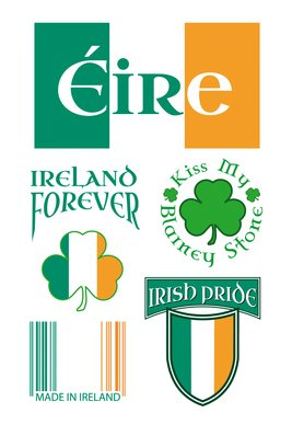 Ireland Tattoo Sheet 2