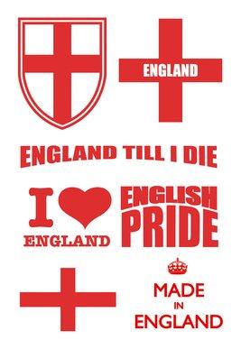 England Tattoo Sheet 2