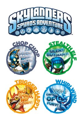 Skylanders Tattoo Sheet 2