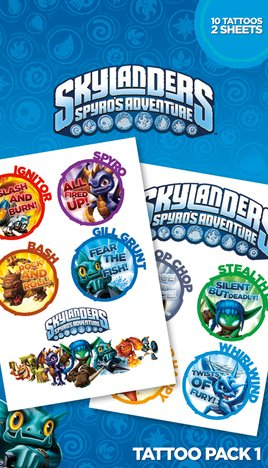 Skylanders Tattoo Pack 1