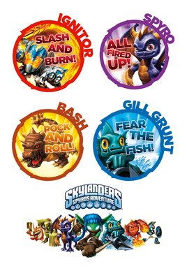 Skylanders Tattoo Sheet 1