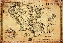 LOTR Parchment Map