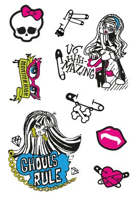 Monster High Tattoo sheet 2