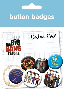 Big Bang Theory Character Badge Pack