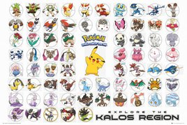 FP3496 Pokemon - Kalos Region