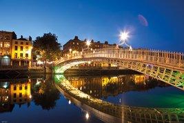 Dublin - Halfpenny Bridge Landscape