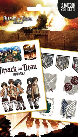 Attack on Titan - Logos and Characters