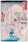 Hiroshige - Mount Haruna in Snow