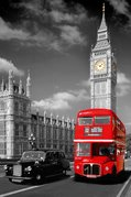 London - Big Ben Bus and Taxi